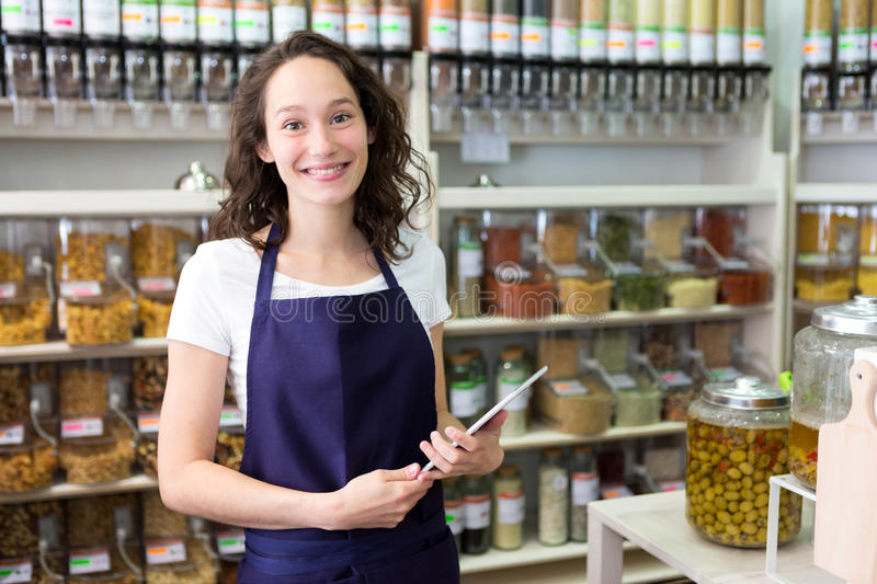 154 Young Attractive Woman Working Grocery Store Photos - Free & Royalty-Free Stock Photos from Dreamstime