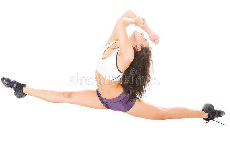 Download Young Attractive Women Showing Her Flexibility Stock Photo - Image: 8864892