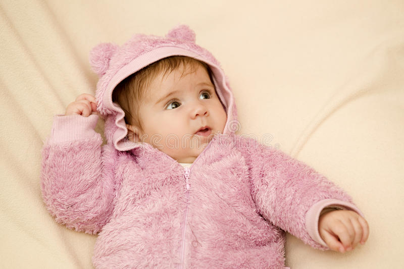 Young baby portrait royalty free stock photography