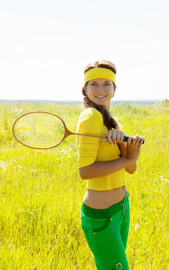 Download Young Badminton Player Royalty Free Stock Photos - Image: 15206378