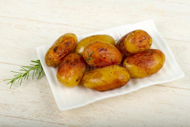 Young baked potato stock images