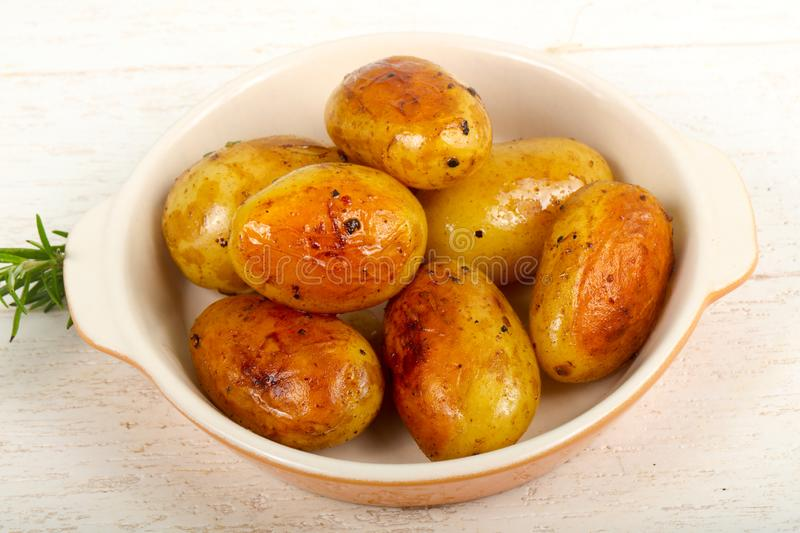 Young baked potato stock image