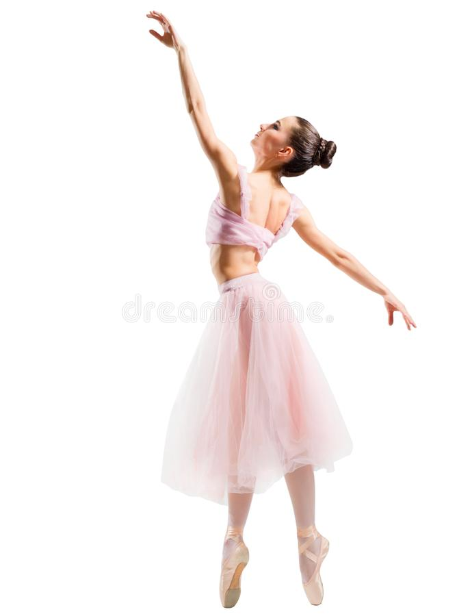 Young ballerina isolated royalty free stock images