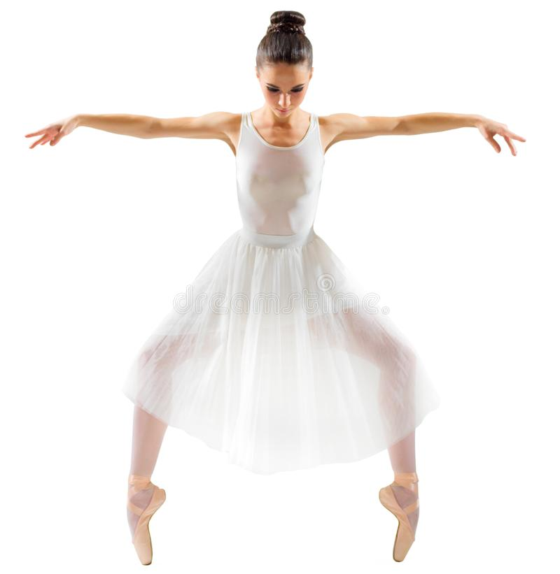Young ballerina isolated royalty free stock photo