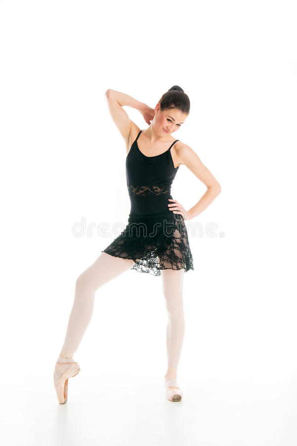 Young ballet dancer thinking or confused royalty free stock images