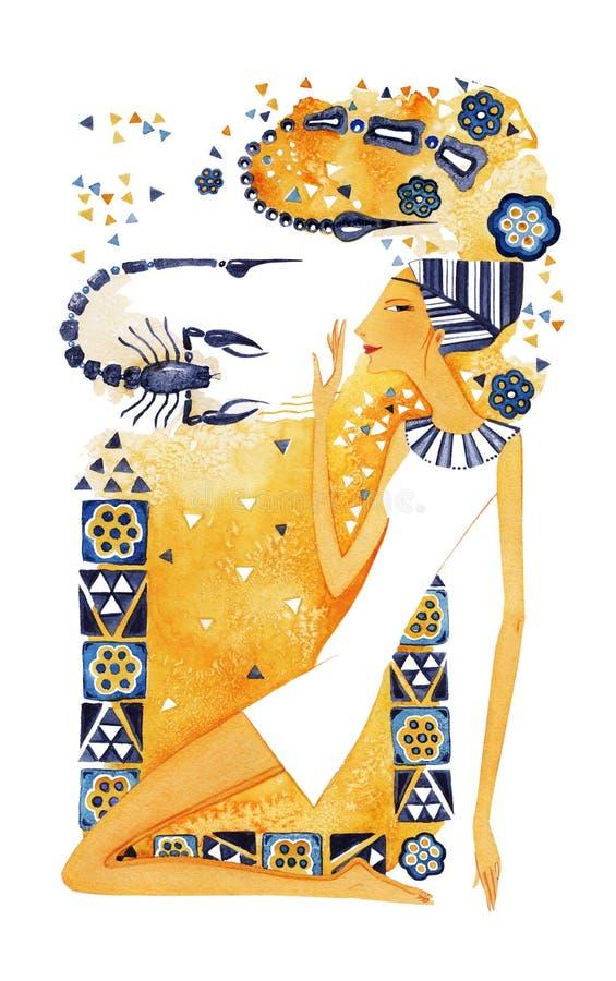 Symbol of the zodiac sign Scorpio vector illustration