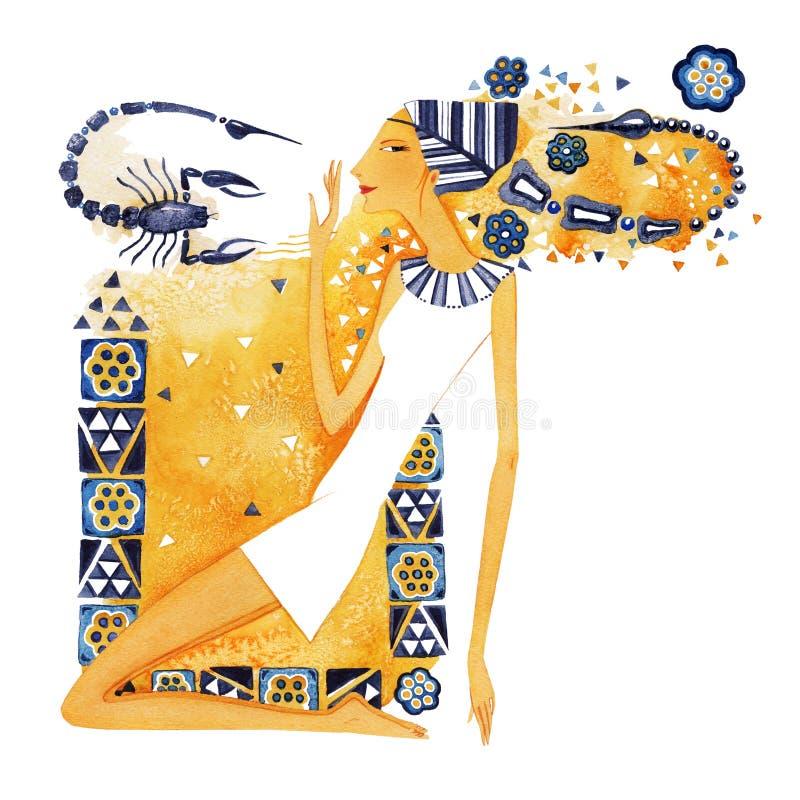 Symbol of the zodiac sign Scorpio stock illustration