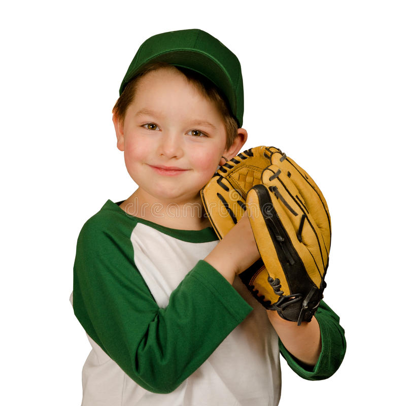Young baseball player stock photography