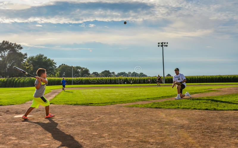 Young Batter - Field of Dreams Movie Site - Dyersville, Iowa royalty free stock image