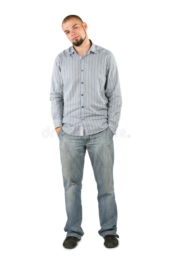 Download Young Beard Man Isolated On White Background Stock Photo - Image: 7550850