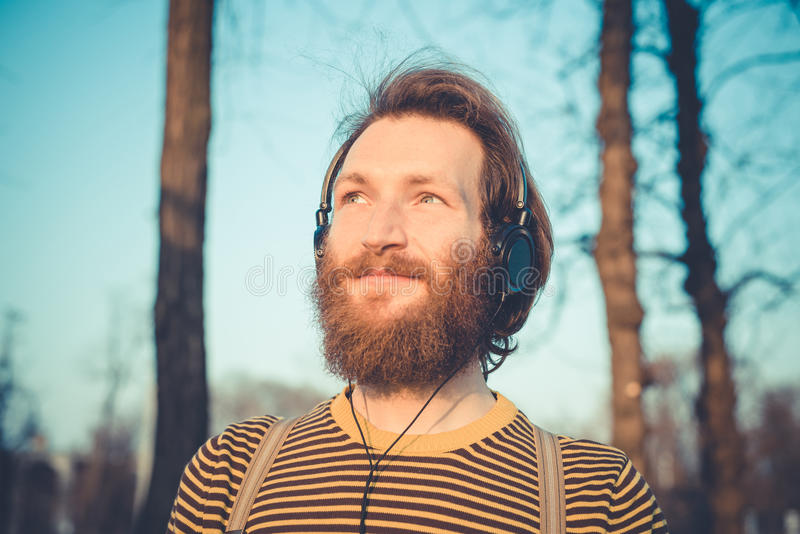 Young bearded stylish handsome hipster man royalty free stock images