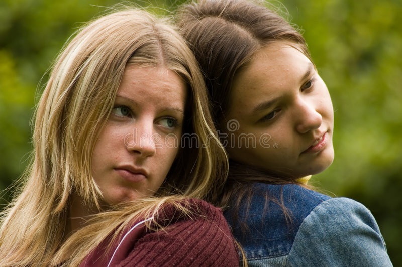 Young beauties royalty free stock photo