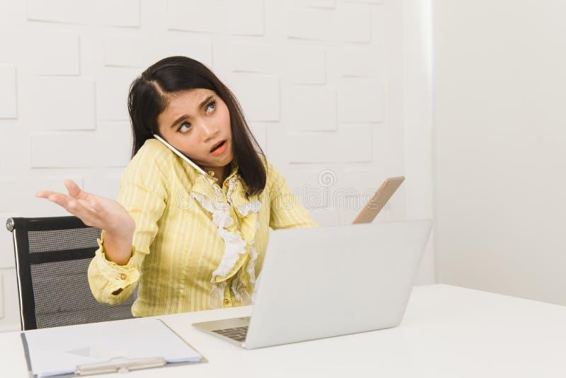 Asian lady on white background stock image