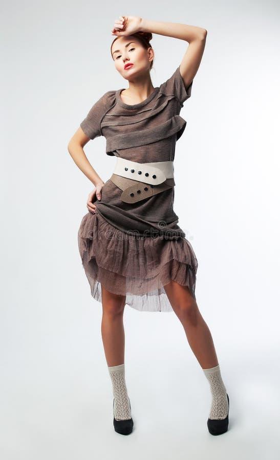 Young beautiful asian female posing in studio stock images