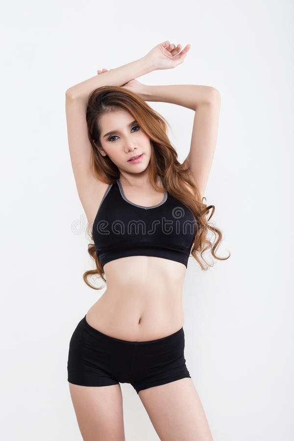 Young beautiful asian girl stock image