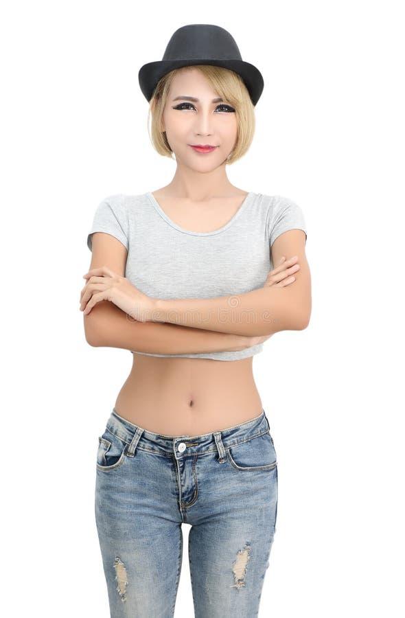 Asian woman fashion royalty free stock image