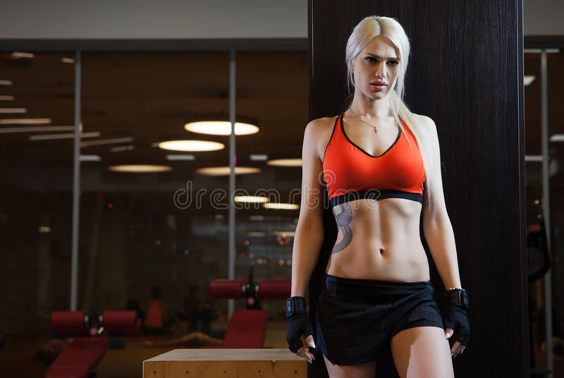 Young beautiful athlete woman stock photography