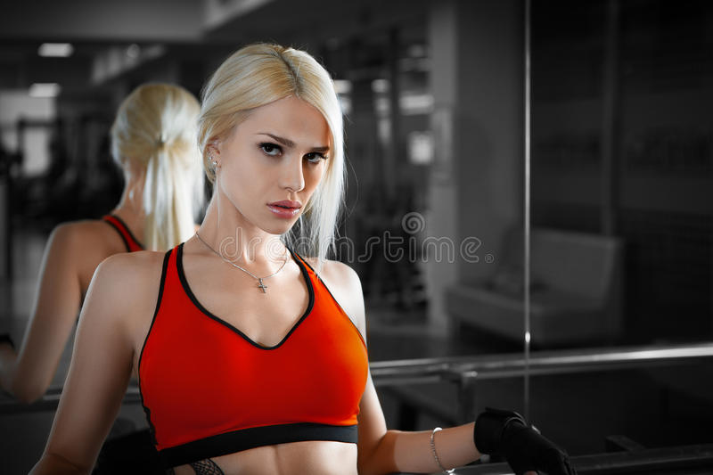 Young beautiful athlete woman royalty free stock image