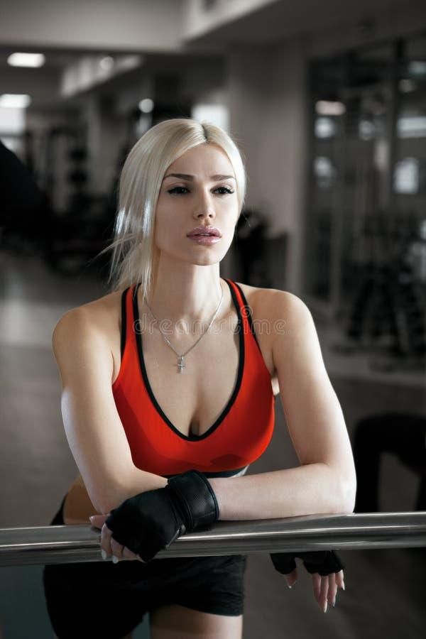Young beautiful athlete woman stock photo