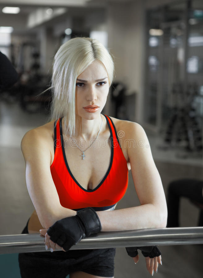 Young beautiful athlete woman stock images