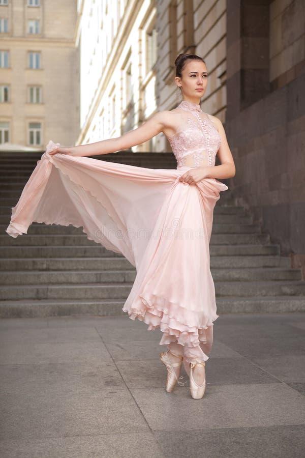 Young beautiful ballerina stock photos