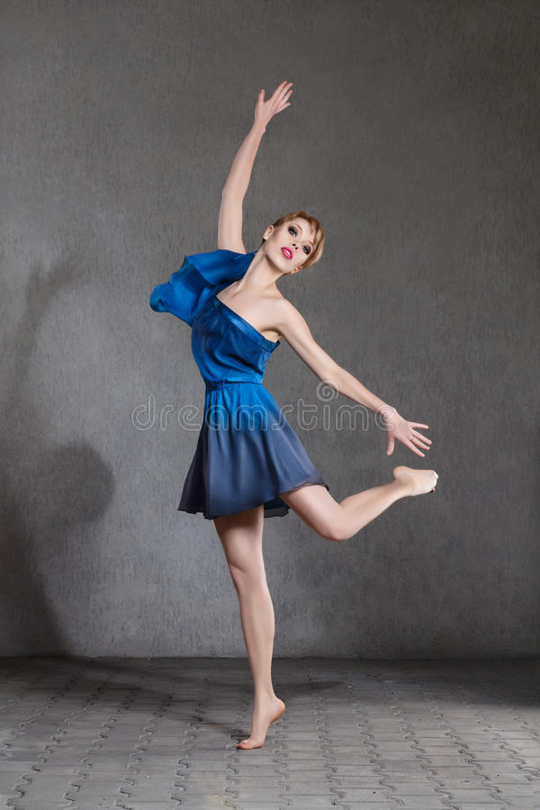 Young beautiful ballerina royalty free stock photo