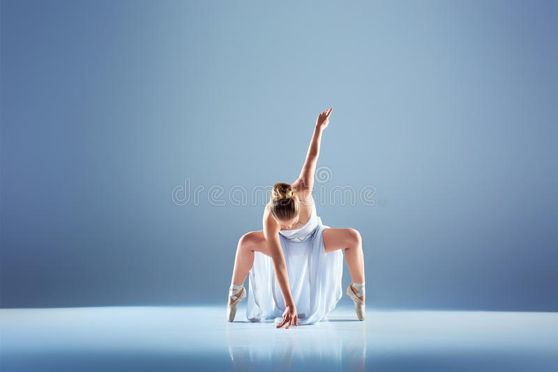 Young and beautiful ballet dancer royalty free stock photo