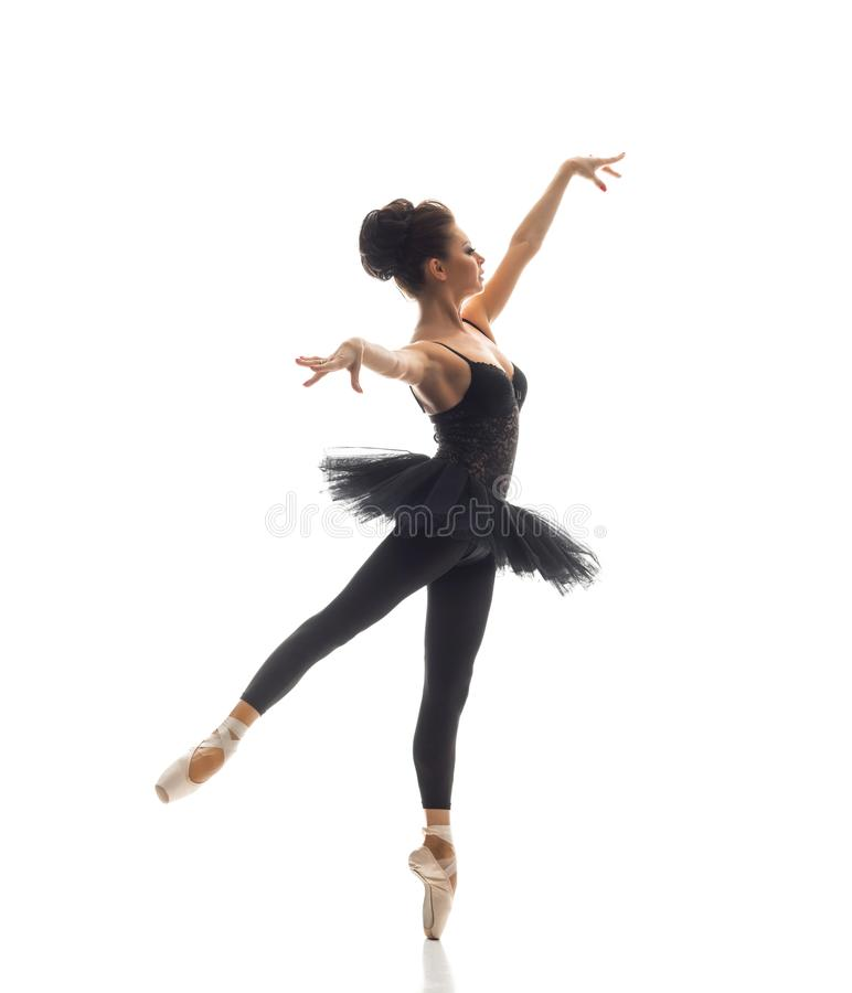 Young beautiful ballet dancer royalty free stock images