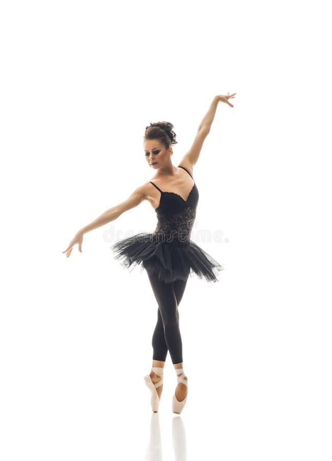 Young beautiful ballet dancer stock photo