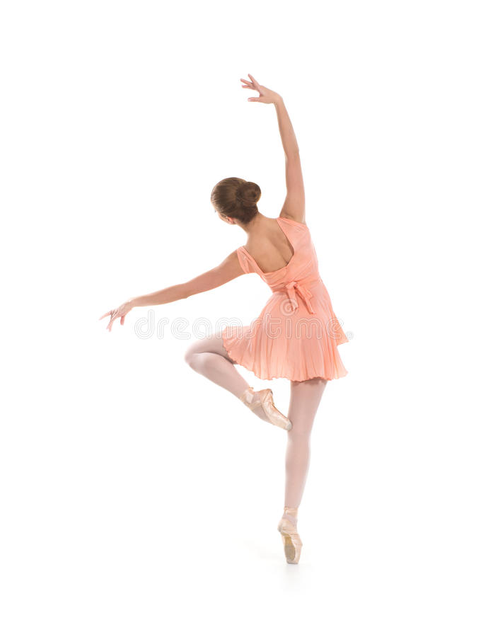 Back of a young ballet damcer royalty free stock photography