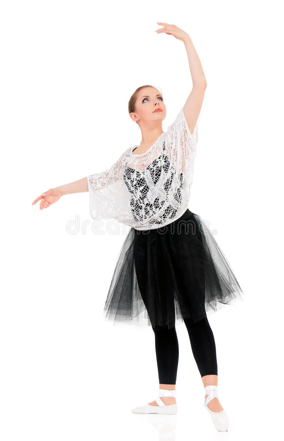 Young beautiful ballet dancer royalty free stock image