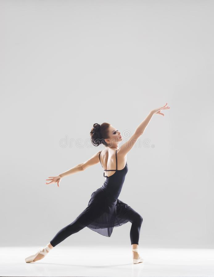 Young beautiful ballet dancer royalty free stock photography