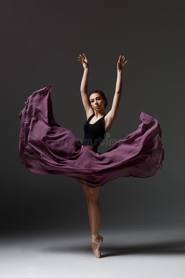 Young beautiful ballerina is posing in studio royalty free stock image