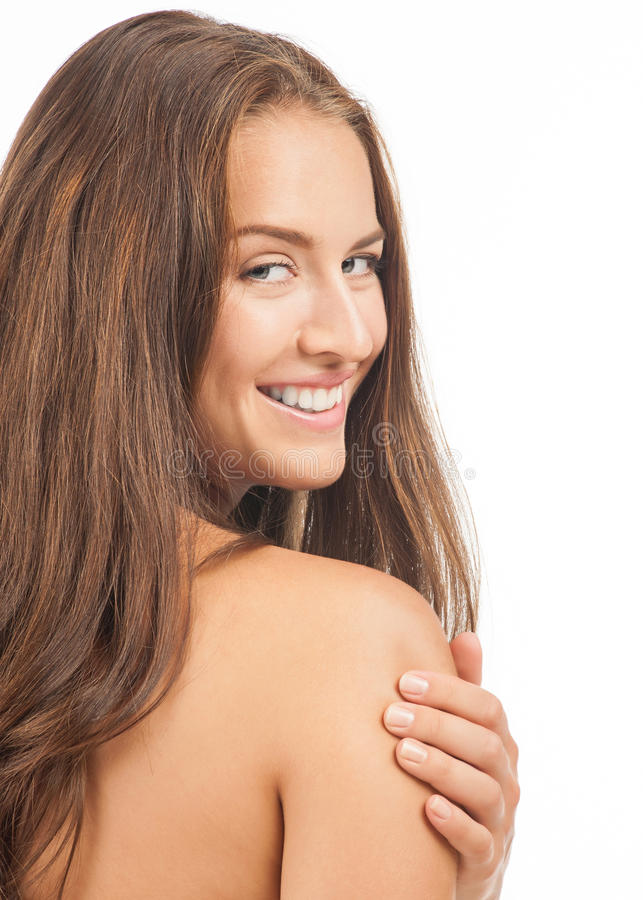 Young beautiful bare woman royalty free stock photo
