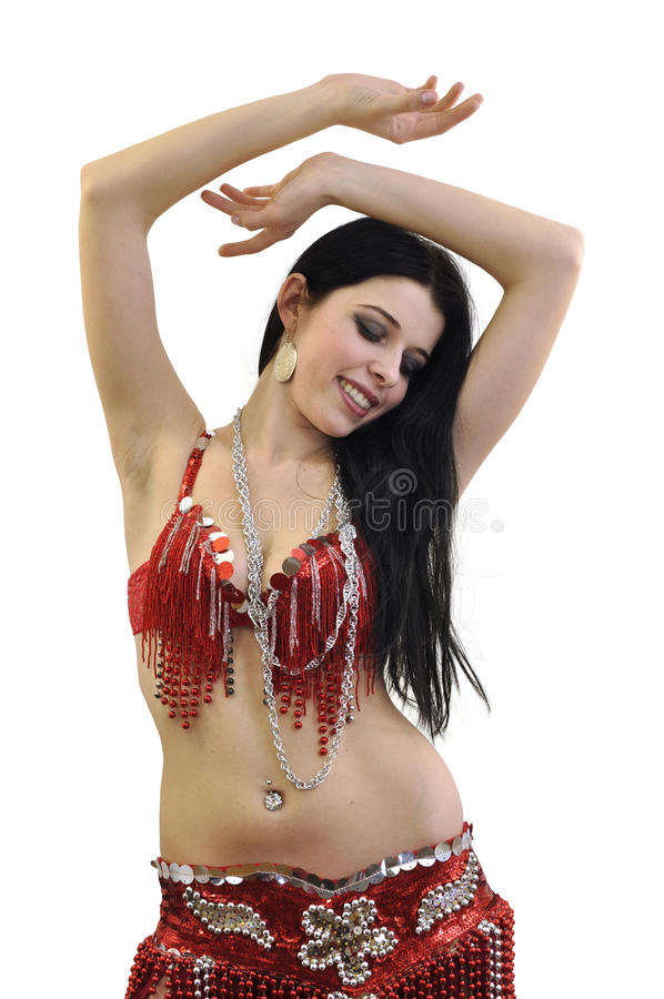 Young beautiful bellydancer royalty free stock image