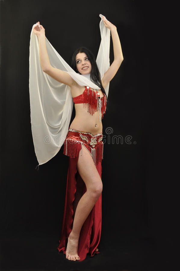 Young beautiful bellydancer stock photo