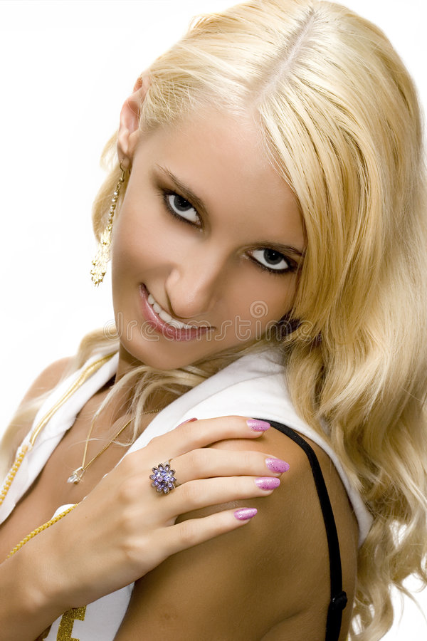 Young beautiful blond girl royalty free stock images