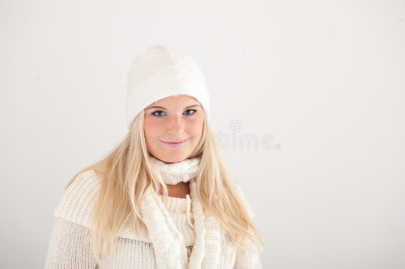 Download Young Beautiful Blond Winter Woman Stock Photo - Image of lifestyle, girl: 11507188