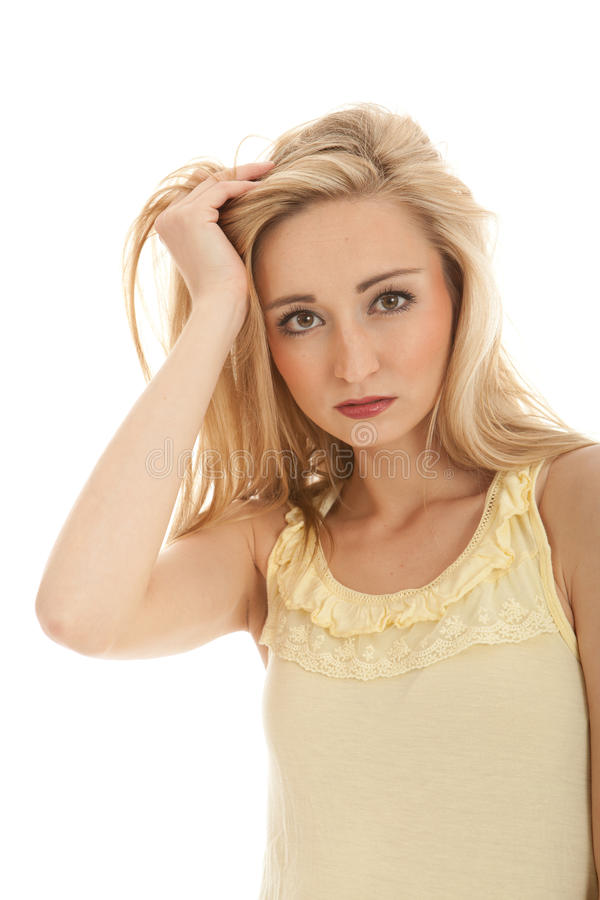 Download Young Beautiful Blonde Woman Emotion Stock Photos - Image: 24779693