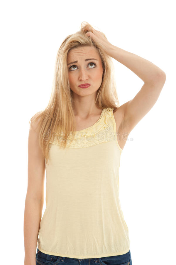 Young Beautiful Blonde Woman Emotion Royalty Free Stock Image
