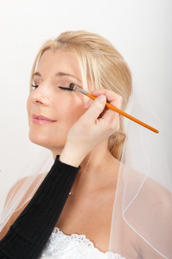 Free Young Beautiful Bride Applying Wedding Make-up Stock Photo - 11696760