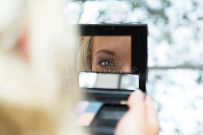 Young beautiful bride wedding make-up royalty free stock images