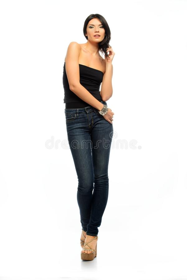 Download Young Beautiful Brunette Woman Stock Photo - Image: 34644736