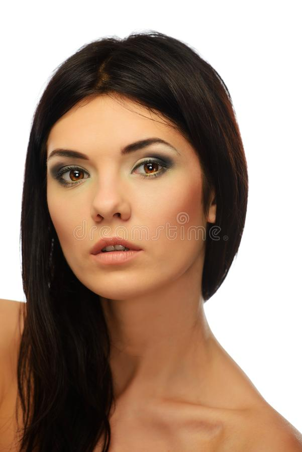 Download Young Beautiful Brunette Woman Stock Photo - Image: 34644734