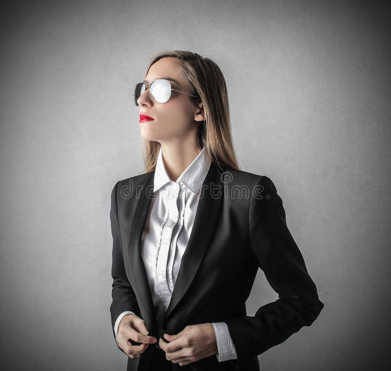 Free Young Beautiful Business Woman With Glasses Royalty Free Stock Image - 39522946