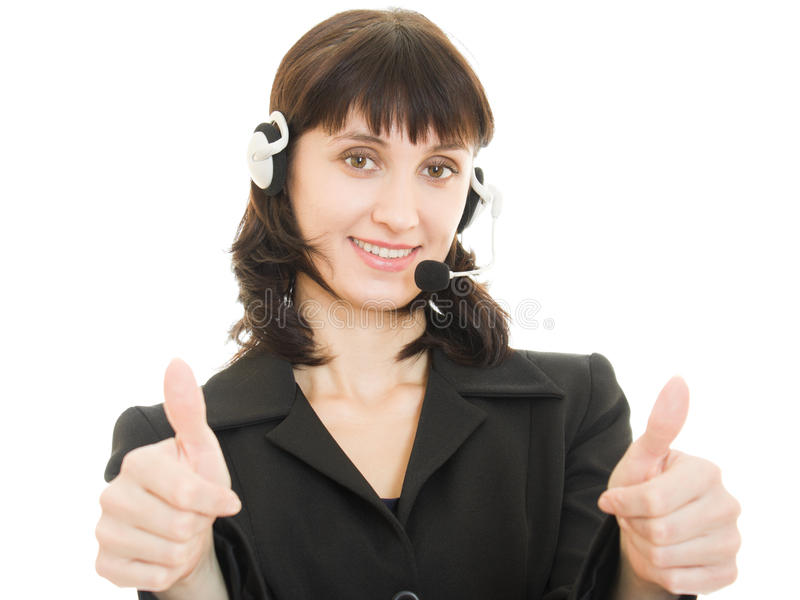 Download Young Beautiful Call Center Female Operator Stock Photo - Image: 23530856