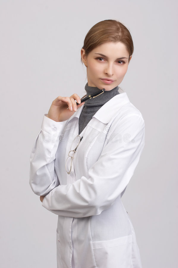 Young beautiful doctor royalty free stock photography