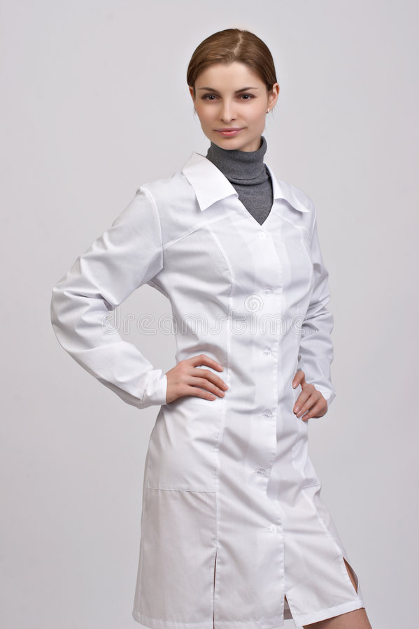 Young beautiful doctor royalty free stock photos