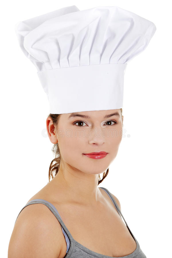Young beautiful female cook