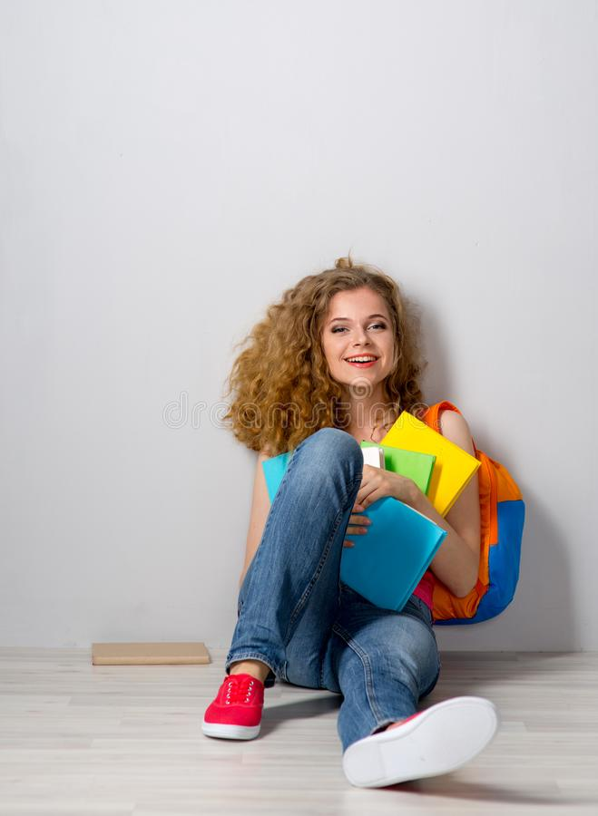 Young beautiful female student royalty free stock images
